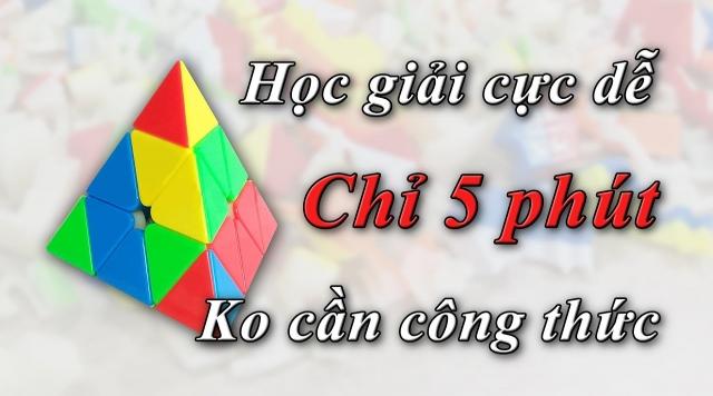 Hướng dẫn giải rubik Pyraminx đơn giản nhất